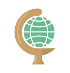 globe earth school isolated icon vector image