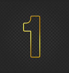 Gold glittering number 1g vector