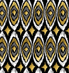 Gold peacock retro tribal boho pattern background vector