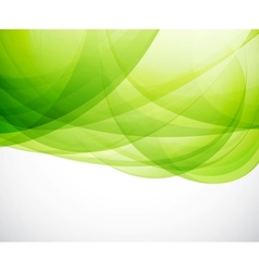 Green eco wave vector image