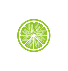 green lemon slices logo design inspiration vector image