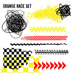grunge race set vector image
