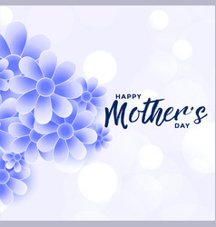 happy mothers day blue flower decoration vector image