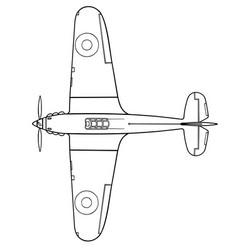 Hawker hurricane i top vector