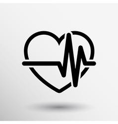 Heartbeat Echocardiography Cardiac exam Form heart vector
