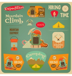Hiking card vector