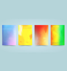 hologram bright colorful background set vector image