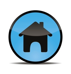 Home web button round vector