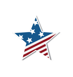 independence day with star in national flag colors vector image