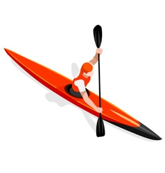 Kayak Sprint 2016 Sports Isometric 3D vector