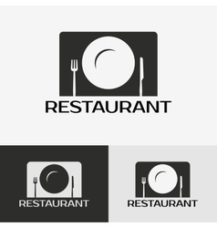 label restaurant vector image