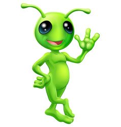 Little green man alien vector