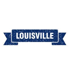 Louisville ribbon blue louisville grunge band sign vector