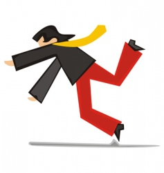 Man tripping vector