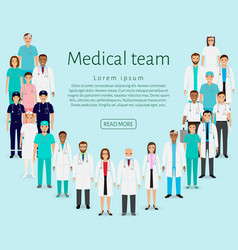 Medical team group doctors nurses paramedics vector