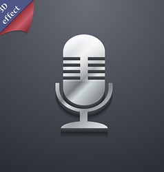 microphone icon symbol 3D style Trendy modern vector image
