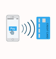mobile pay concept vector image