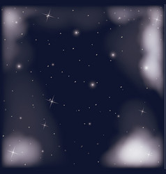 nightly sky scene with starry background and vector image