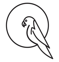 parrot simple icon vector image