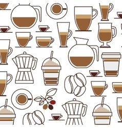 Pattern set collection glass jar coffee drink icon vector