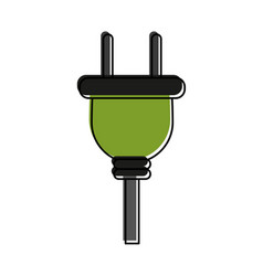 plug with cord icon image vector image