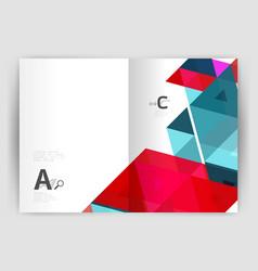 print triangle modern print template vector image