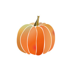 pumpkin simple icon with watercolor effect vector image