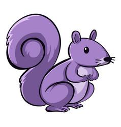 Purple squirrel on white background vector