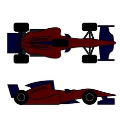 Racing car design vector