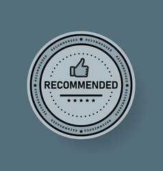 recommended icon line label vector image