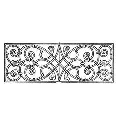renaissance oblong panel is an italian vector image