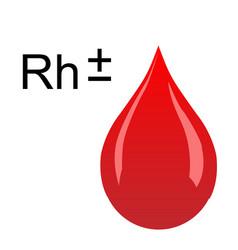 rhesus factor of blood vector image