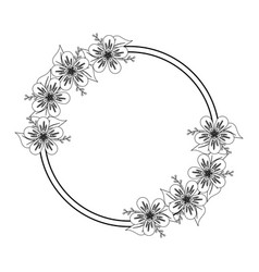 rustic floral design vector image