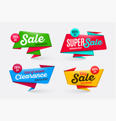 sale banners templates special offer end of season vector image