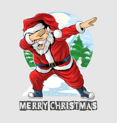 Santa claus dabbing dance is very cute vector
