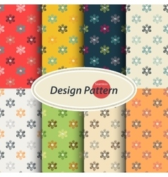 Scribble floral pattern vector image