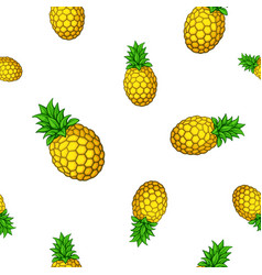 seamless pattern with big and small pineapples vector image