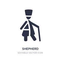 Shepherd icon on white background simple element vector