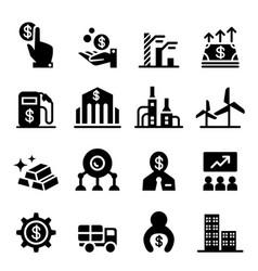 Stock exchange stock market icons vector