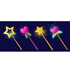 The magical power of a magic wand vector
