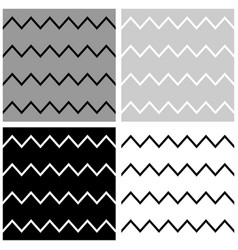 Tile pattern set with white grey and black zigzag vector