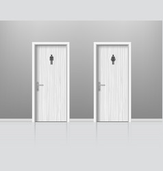 Toilet doors for male and female genders wc door vector