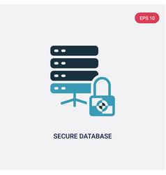 two color secure database icon from security vector image