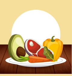 Vegetable food icon vector