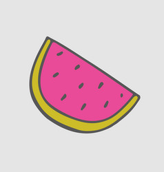 watermelon stickers summer patch vector image