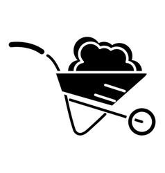 wheelbarrow garden icon vector image