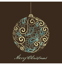 fantasy christmas ball vector image vector image