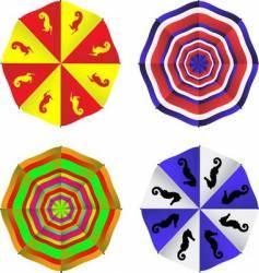 sun umbrella vector image