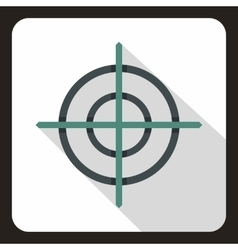 Target crosshair icon flat style vector image vector image