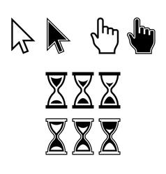 Cursor icons mouse pointer set vector
